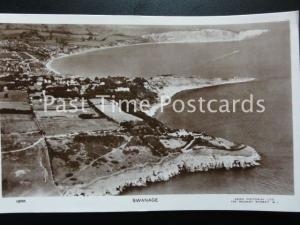 Dorset AERIAL VIEW of SWANAGE - Old RP Postcard by Aero Pictorial Ltd 1206