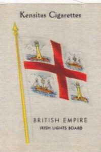 J Wix & Sons Vintage Cigarette Card British Empire Flags Silk No 20 Irish Lig...