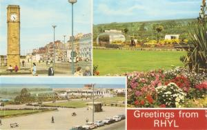 Greetings from Rhyl Colourful English Postcard 1960s