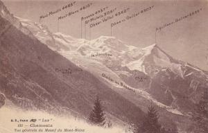 Vue Generale du Massif du Mont-Blanc, Chamonix, Rhone-Alpes, France, 00-10´s