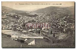 Old Postcard Tarare General View from Bel Air