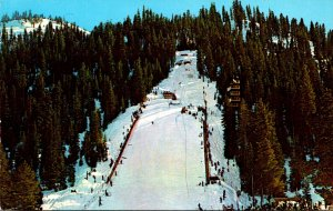 California Squaw Valley Looking Up Papoose Peak Showing Ski Jump 1960