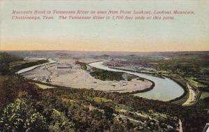 Tennessee Chattanooga Moccasin Bend In Tennessee River As Seen From Point Loo...