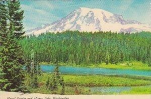 Mount Rainier And Mirror Lake Washington