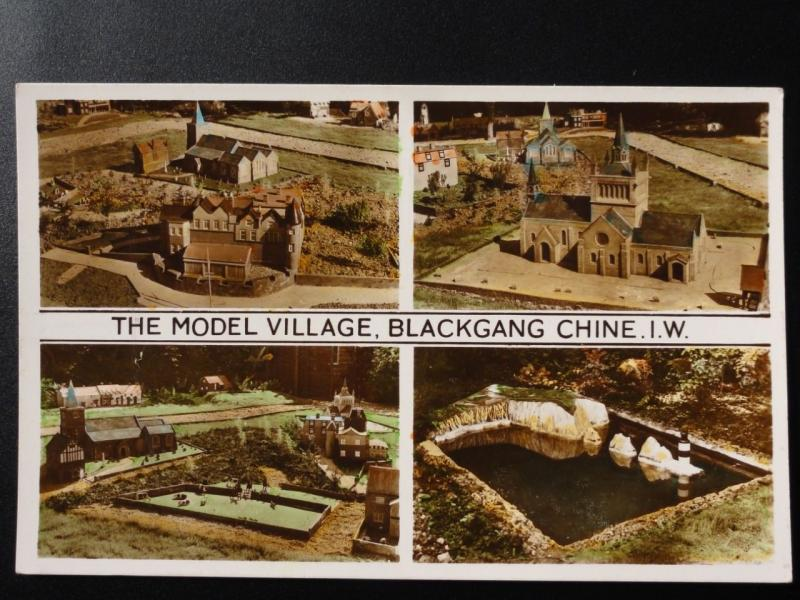 Isle of Wight: The Model Village, Blackgang Chine - Old RP Postcard by Nigh