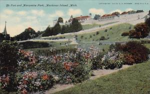 The Fort And Marquette Park Mackinac Island Michigan