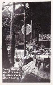 California Brookdale World Famous Brookdale Lodge The Dining Roon 1948 Real P...