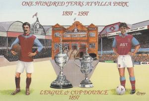 Aston Villa Football Club 1997 Stadium Grounds Painting Postcard
