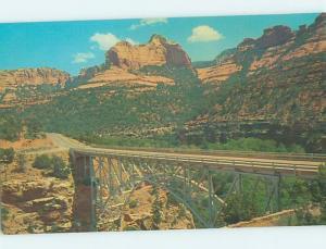 Unused Pre-1980 BRIDGE SCENE Sedona - Near Flagstaff Arizona AZ H7565
