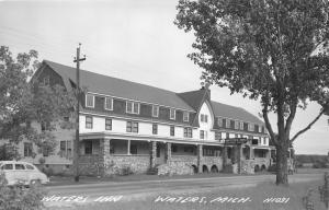 Waters Michigan~Waters Inn~Rooms-Food~Open Sign~1940s RPPC