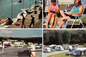 Brighton East Sussex Multi View Postcard, Caravan Site, Marina, Boats 10N