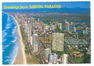 Aerial View Looking South, Surfers Paradise, Gold Coast, Queensland, Australi...