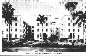 Florida West Palm Beach Lake Court Apartment Hotel 1954