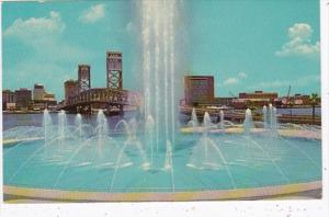 Florida Jacksonville Fountain Of Friendship In St Johns River Park and Marina