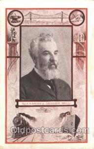 Alexander Graham Bell Famous American Series, Postcard Post Card  Alex&er Gra...