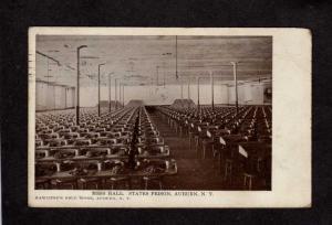 NY 1906 View Mess Hall State Prison Auburn New York Vintage Postcard PC  UDB