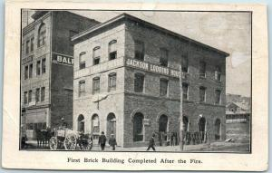 1900s San Francisco Postcard JACKSON LODGING HOUSE 1st Brick Building After Fire