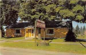 Michigan MI Postcard Chrome Roadside NEWBERRY Paul Bunyon Restaurant Gale Hostes