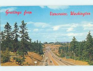 Unused Pre-1980 MODERN FREEWAY Vancouver Washington WA hn3410-22