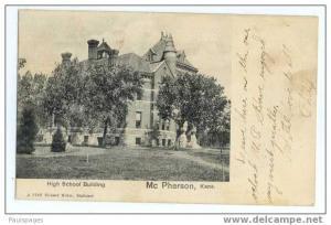 High School, McPherson, Kansas, KS, 1907 Undivided Back