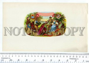 500080 Colonial Conquests Vintage embossed cigar box label