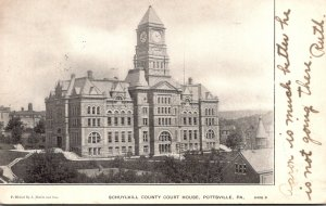 Pennsylvania Pottsville Schuylkill County Court House 1906