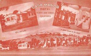 CASA MANOR MOTEL San Diego, California Roadside ca 1940sVintage Postcard