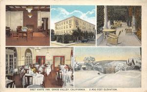 D85/ Grass Valley California Ca Postcard c1910 5View Bret Harte Inn Interior