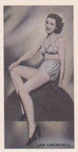 Phillips Vintage Cigarette Card Beauties Of To-Day 1938 No 3 Jan Churchil