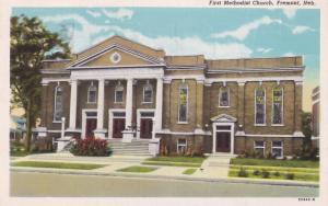 Fremont The First Methodist Church USA Old Postcard