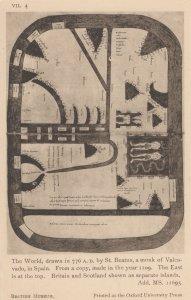 The World British Scottish Old Map 776 AD Antique Postcard