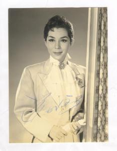 Actress portrait , Japan , 40-50s ; Autographed