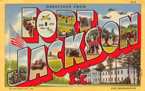 Greetings from Fort Jackson, South Carolina, USA Large Letter Military Camp 1...