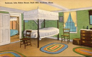 Massachusetts Duxbury John Alden House Built 1653 The Bedroom 1948