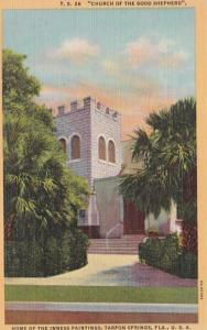 Florida Tarpon Springs Church Of The Good Shepherd 1953 Curteich