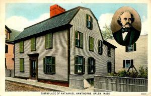 MA - Salem. Birthplace of Nathaniel Hawthorne