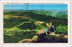 Mary's Rock. Skyline Dr. Shenandoah Nat Park VA