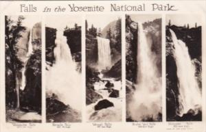 Water Falls In The Yosemite National Park 1938 Real Photo