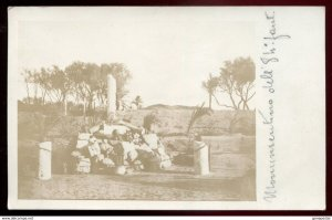dc1147 - ITALY MILITARY 1910s Italo-Turkish War. Monument. Real Photo Postcard