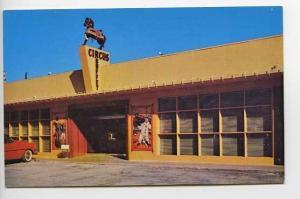 Clearwater Beach FL Circus Buffet Old Car Postcard