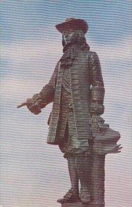 William Pennsylvania Statue On City Hall Tower Philadelphia Pennsylvania