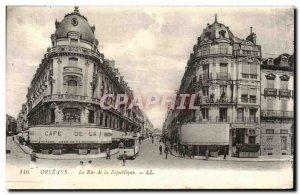 Old Postcard Orleans Rue de la Republique