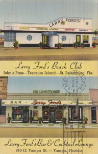 Florida Tampa St Petersburg Larry Ford's Beach Club Bar & Cocktail Lounge s1494a
