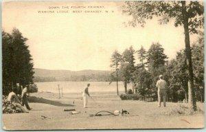 West Swanzey, New Hampshire Postcard WAWONA LODGE Golf Course 4th Fairway ArtVue