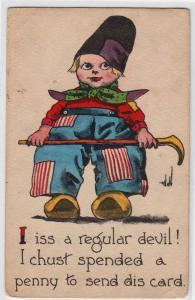 Dutch Boy, I iss a Regular Devil by Wall