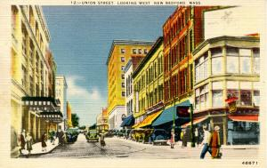 MA - New Bedford. Union Street looking west circa 1930