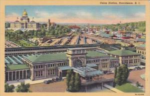 Rhode Island Providence Union Station 1944 Curteich