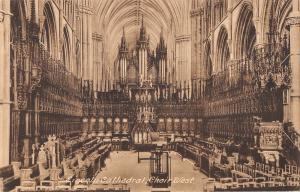 uk3520 lincoln cathedral choir west real photo uk
