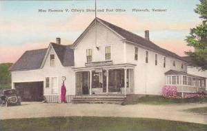 Vermont Plymouth Miss Florence V Cilleys Store And Post Office Albertype