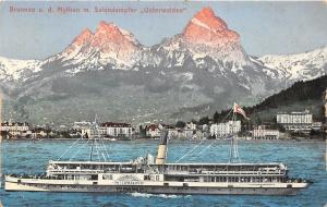 B2407 Germany Ship Bateaux Brunneu ud Mythen m Salondampher Unte front/back scan